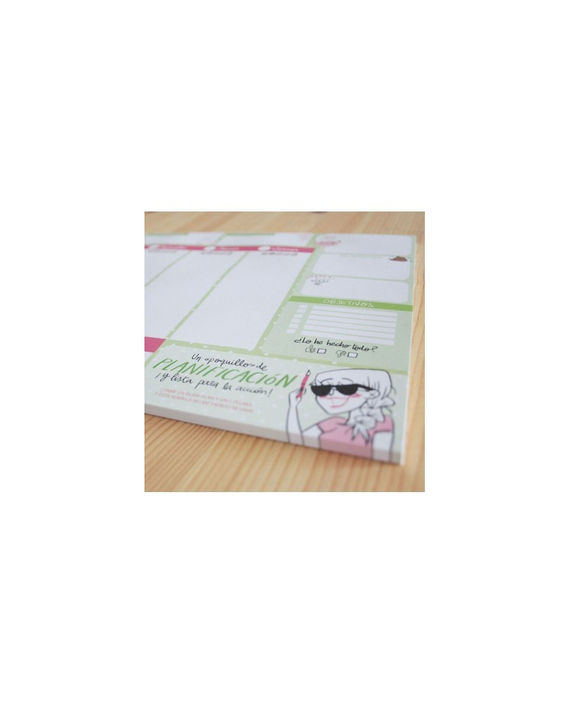 Planificador A4 Verde
