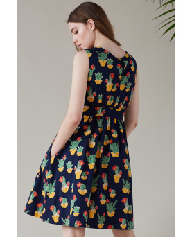 VESTIDO EMILY AND FIN BLOOMING CACTI