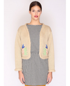 CARDIGAN PEPALOVES embroidery PINEAPPLE
