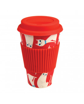 TRAVEL MUG GATO BLANCO