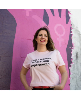 CAMISETA I AM A  A WOMAN WHAT IS YOUR