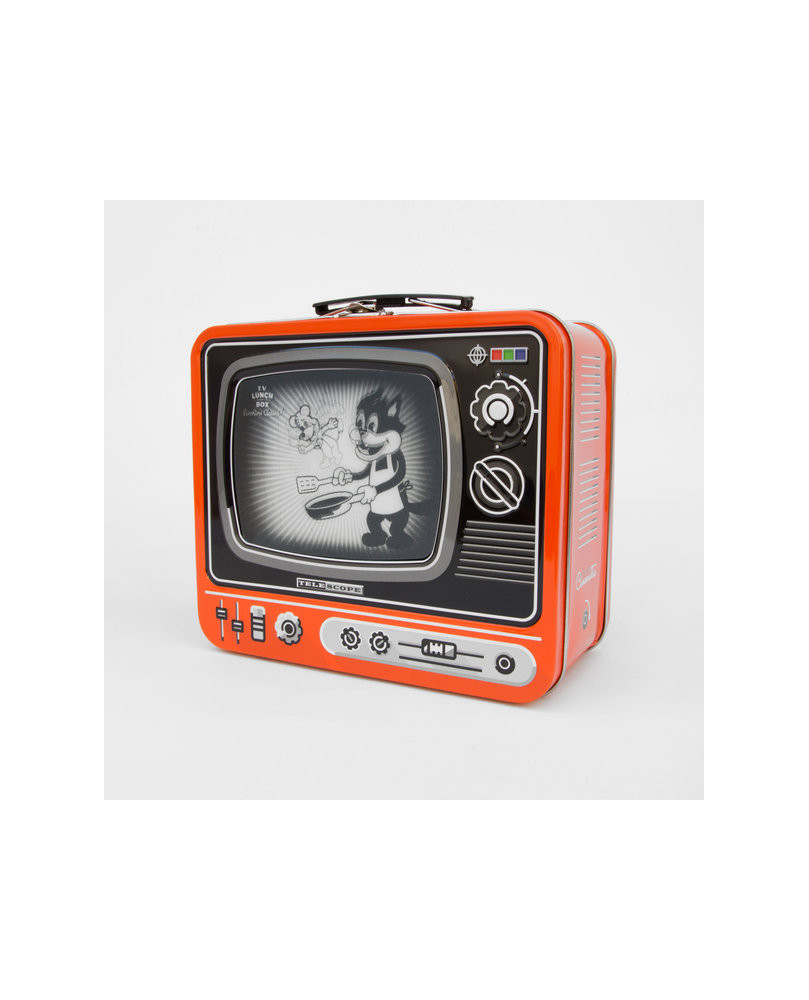 CAJA METAL LUNCH TV KITCHEN NARANJA