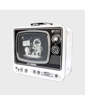 CAJA METAL LUNCH TV MOON BLANCA