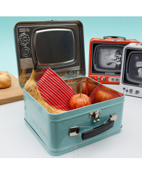CAJA METAL LUNCH TV HOLIDAY AZUL