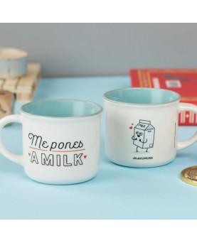 JUEGO TAZAS DE CAFE ME PONES A MILK