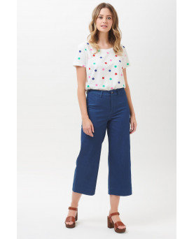 PANTALONES ALMA CROPPED WIDE