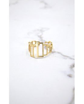 ANILLO ORO RECTANGULOS