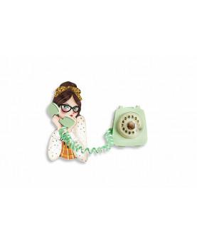 BROCHE TELEFONO VERDE