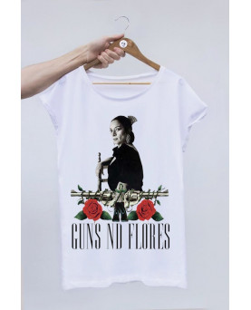 CAMISETA OFF SET GUNS AND FLORES