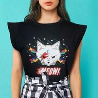 Meowwww! Ha vuelto!😺  #reposicion #meow #camisetagatobowie #minuetospain #modaalternativa #pequeñocomercio #salamanca #rockcat #ladycat