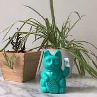 """Luckycat, gato de la fortuna o manekineko en color turquesa.  Los luckycat son una divertida, colorida y alegre interpretación del clásico  gato chino de la suerte o maneki-neko. El aguamarina atrae: """"Suerte e inteligencia.""""  No te olvides de ponerlo mirando hacia la entrada o la puerta para atraer la suerte.  #decoracion #luckycat #manekineko #srtanaif #salamanca #poetaiglesias14"""