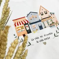 La vida en el pueblo La vida mejor  💛  #tengopueblo #pueblitosbuenos #salamanca #camisetasconmensaje